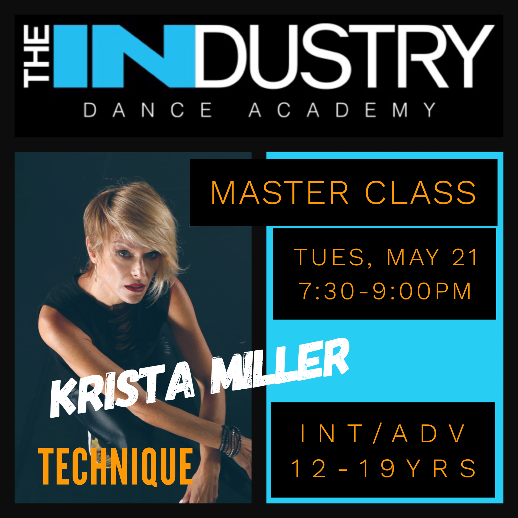 May 21st – 7:30-9:00pm Technique with Krista Miller $30