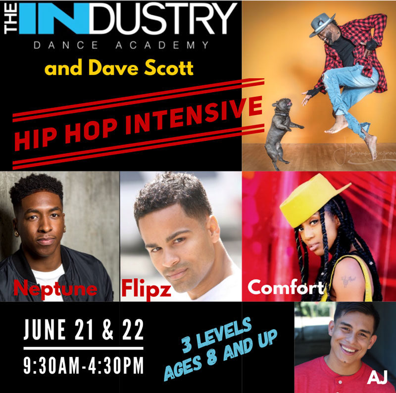 June 21 & 22 9:30-4:30pm 2 DAY HIP HOP INTENSIVE *Must Wear White Soled Shoes Only*